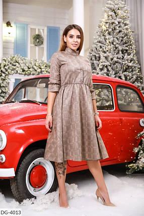 Платье миди замш в расцветках 165108, фото 2
