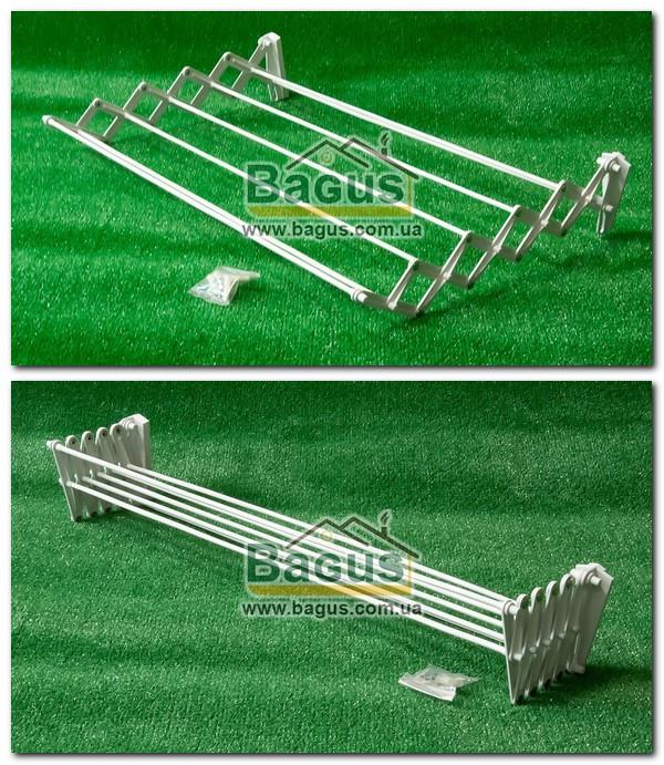 Сушилка-гармошка для белья настенная (ширина - 80см) Dogus Banyo Spring-60