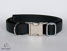 Ошейник из биотана, Черный, 25мм(метал.фастекс)