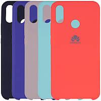 Оригинальный силиконовый чехол для Huawei Y6 Prime (2019) (выбор цвета)