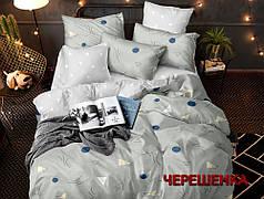 Семейный набор хлопкового постельного белья из Сатина №0742AB Черешенка™