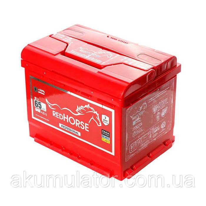 Акумулятор автомобільний RED HORSE  65-0 (R+) (640А)