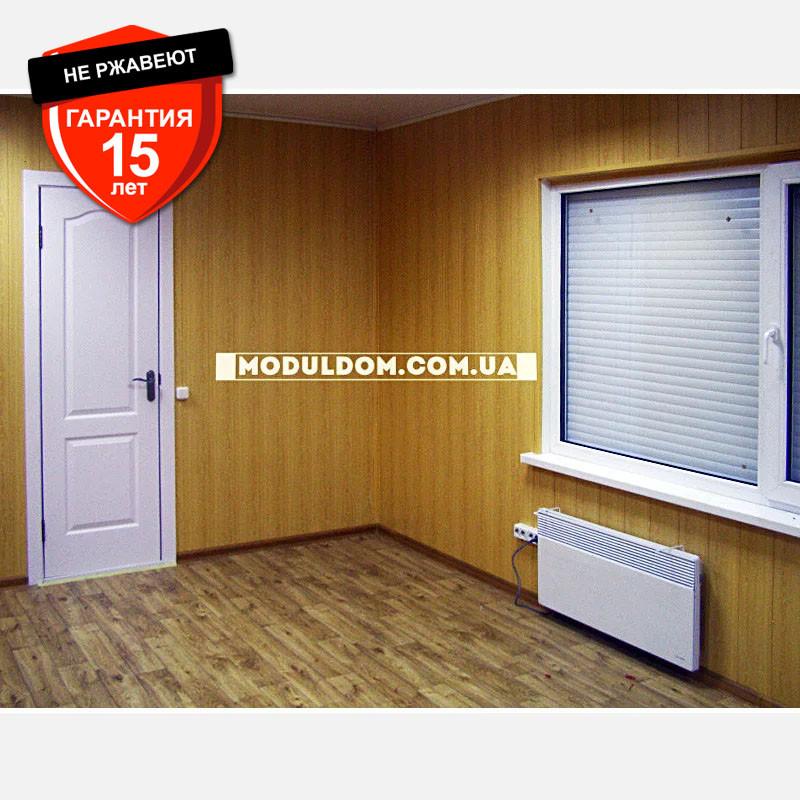 Мобильный офис (7 х 3.5 м.), пристройка, на основе цельно-сварного металлокаркаса.