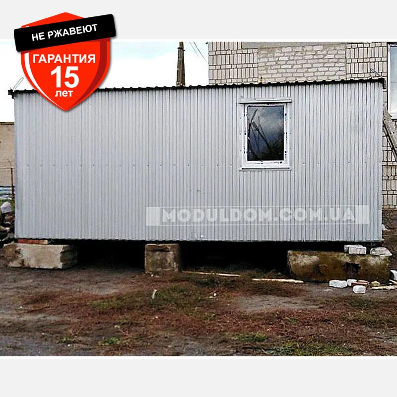 Вагончик 2-х модульный (6 х 4.8 м.), для производства, офиса, штабной, на основе металлокаркаса.