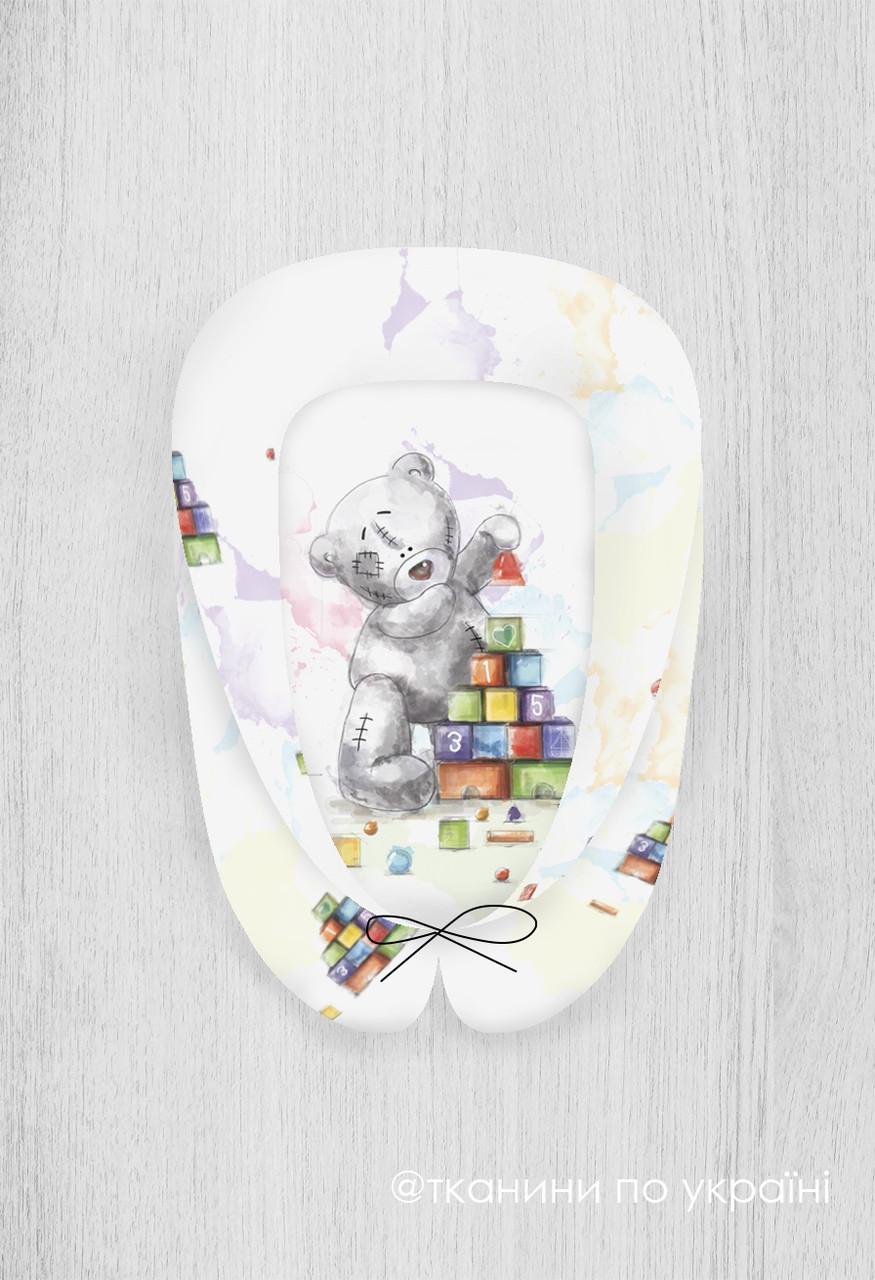 Панелька для кокона премиум сатин Тедди с кубиками