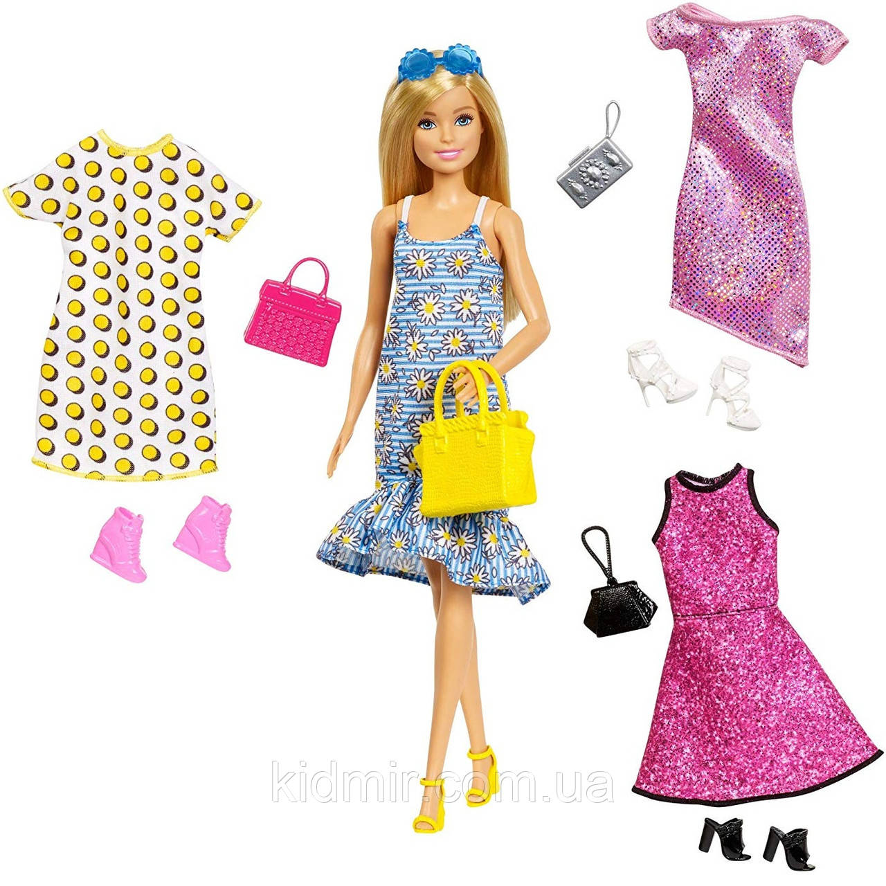 Кукла Барби Модница с одеждой и аксессуарами Barbie Fashions GDJ40