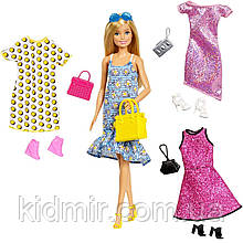 Кукла Барби с комплектами одежды, обувью и аксессуарами Barbie Fashions