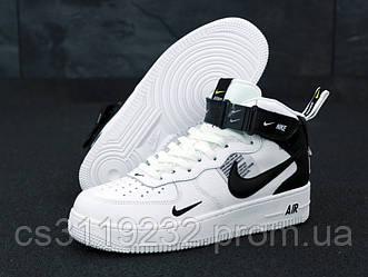Мужские кроссовки Nike Air Force (белые)