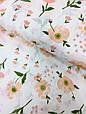 Муслин (хлопковая ткань) маки персиковые (ширина 1,2 м), фото 2
