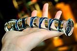 РАСПРОДАЖА Фалос стеклянный полосатый, фото 5