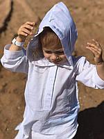 Детская пляжная туника белая хлопок для девочки для мальчика