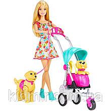 Кукла Барби Прогулка со щенками на коляске Barbie Strollin Pups