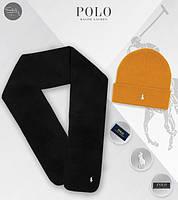 Зимний комплект из шарфа и шапки поло ральф лорен реплика, фото 1