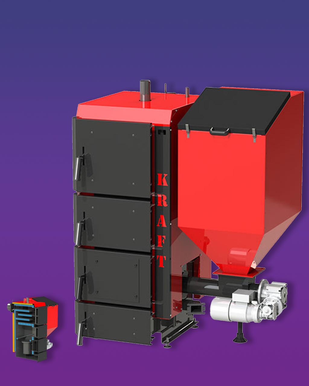 Пелетний котел KRAFT R 50 кВт