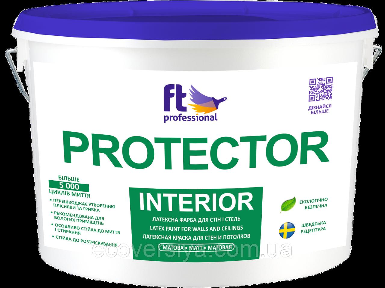 Латексная моющаяся краска Protector Interior