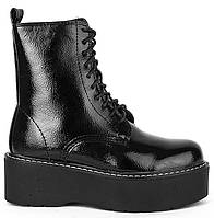 Демисезонные женские ботинки на толстой подошве 39-41