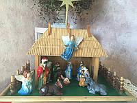 Різдвяний Вертеп з будиночком (висота32см)