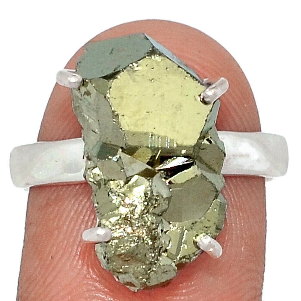 Серебряное кольцо с пиритом, 2116КЦП