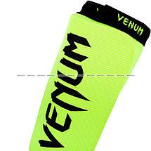 Защита голени и голеностопа Venum Kontact Shinguards Yellow, фото 3