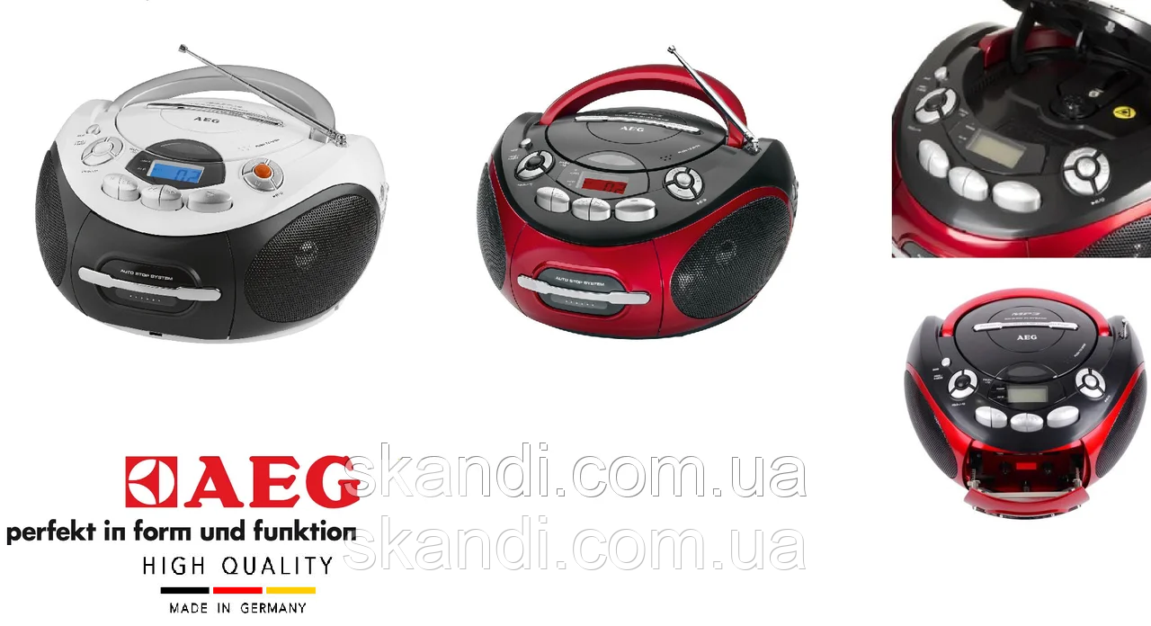 Стереомагнитофон с радио AEG (Оригинал) Германия 2 цвета