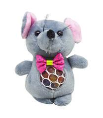 """М'яка іграшка """"Мишка з орбизами"""" (сіра) H-55"""