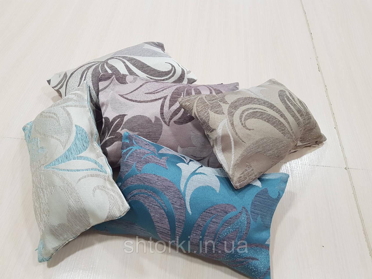 Комплект подушек   цветные полоска и завитки   5шт