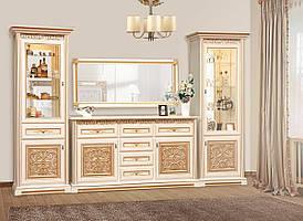"""Меблі в вітальню  """"Лаціо"""" 3.6м  від Світ меблів (прованс світлий)."""