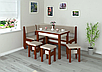 Кухонный уголок+стол+табуретки Тунис Летро, фото 2