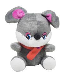 """М'яка іграшка """"Мишка в шарфику з квіточкою"""" 9 AM"""