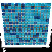 Мозаика стеклянная Aquaviva Jamaika A07N(2)+A08N(2)+B30N(2) для бассейна купели и СПА
