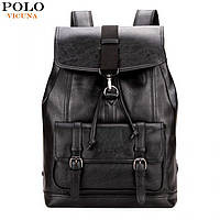 Мужской рюкзак Polo Vicuna городской для ноутбука черный