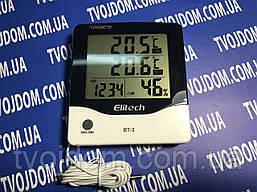 Термометр,гигрометр,цифровой с часами BT3