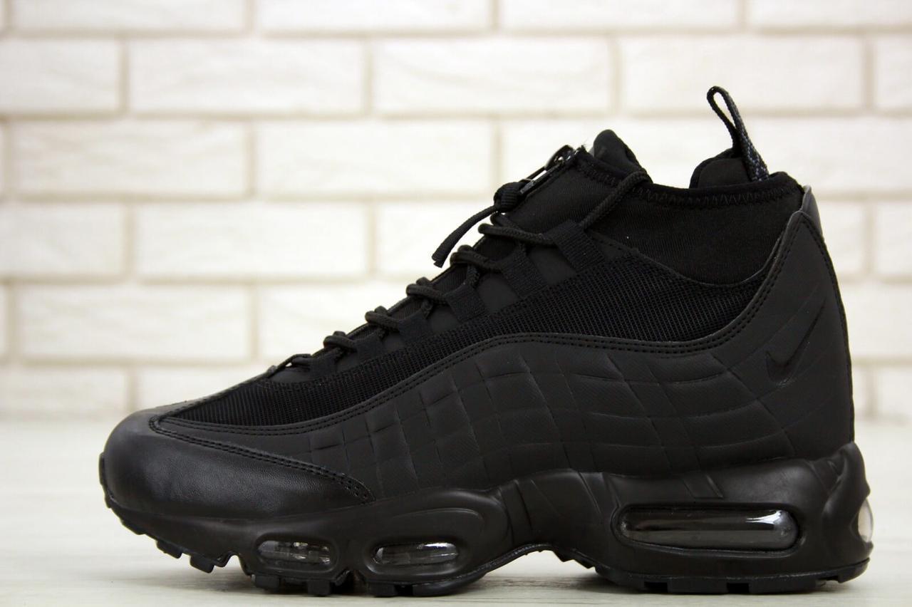Мужские зимние кроссовки Nike Air Max 95 Sneakerboot Black Waterproof