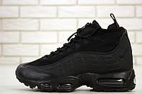 Мужские зимние кроссовки Nike Air Max 95 Sneakerboot Black Waterproof, фото 1