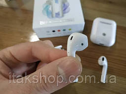 Беспроводные оригинальные наушники i18 TWS сенсорные Bluetooth V.5.0 белые, фото 3