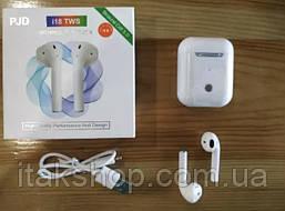 Беспроводные оригинальные наушники i18 TWS сенсорные Bluetooth V.5.0 белые, фото 2