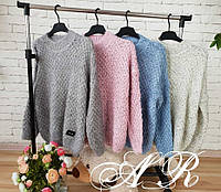 Объемные свитерки FENDI (Фабричный Китай) размер (42/46), длина 60 см. цвет-серый, белый, розовый, синий