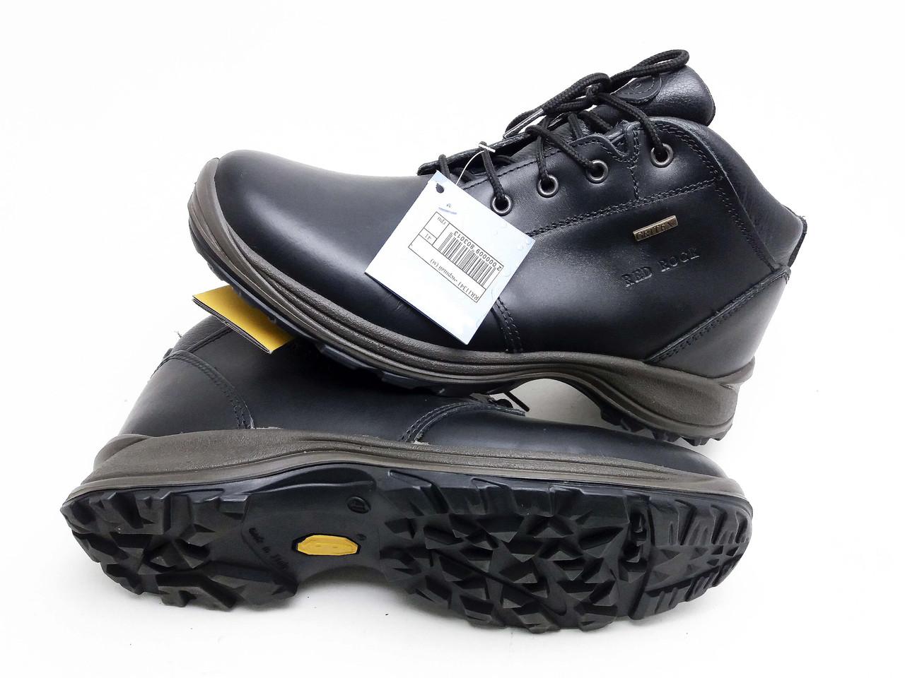 Кожаные ботинки с утеплителем Red Rock черные, унисекс 11341C56G