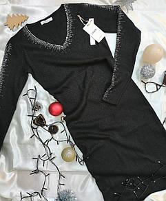 Ошатне жіноче плаття чорне з люрексом