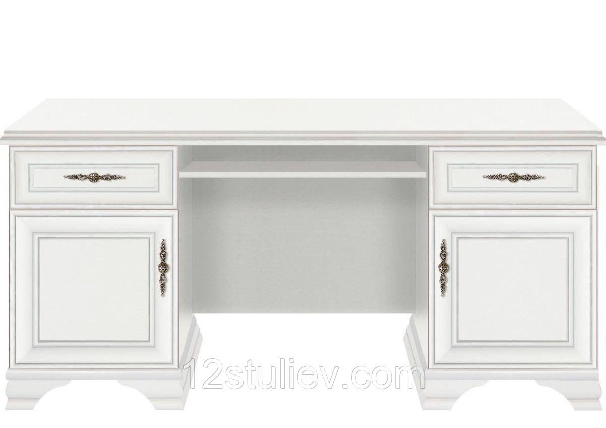 Стол письменный BIU 2D2S Кентуки Белый