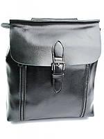 Рюкзак женский кожаный черный 8632 Black