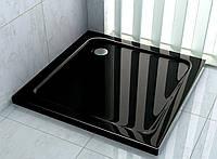 Поддон для душевой кабины 100 х 100 см чёрный акриловый Aqua-World