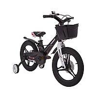 Детский Велосипед с корзинкой легкий магниевая рама HAMMER HUNTER-1650G Черный