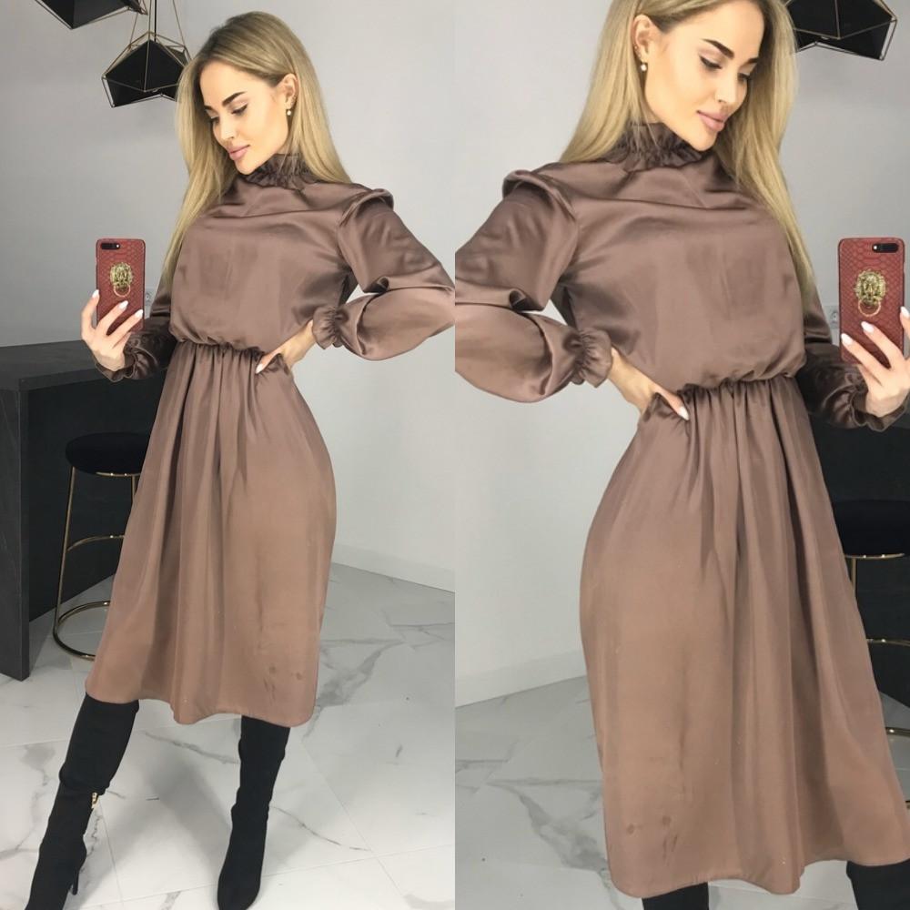 Платье женское вечернее, миди, нарядное, шелковое, расклешенное, повседневное, шикарное платье
