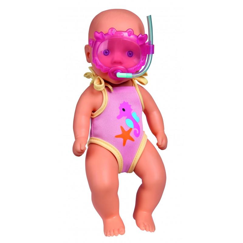 Пупс New Born Baby в купальнике с маской Simba 5030172