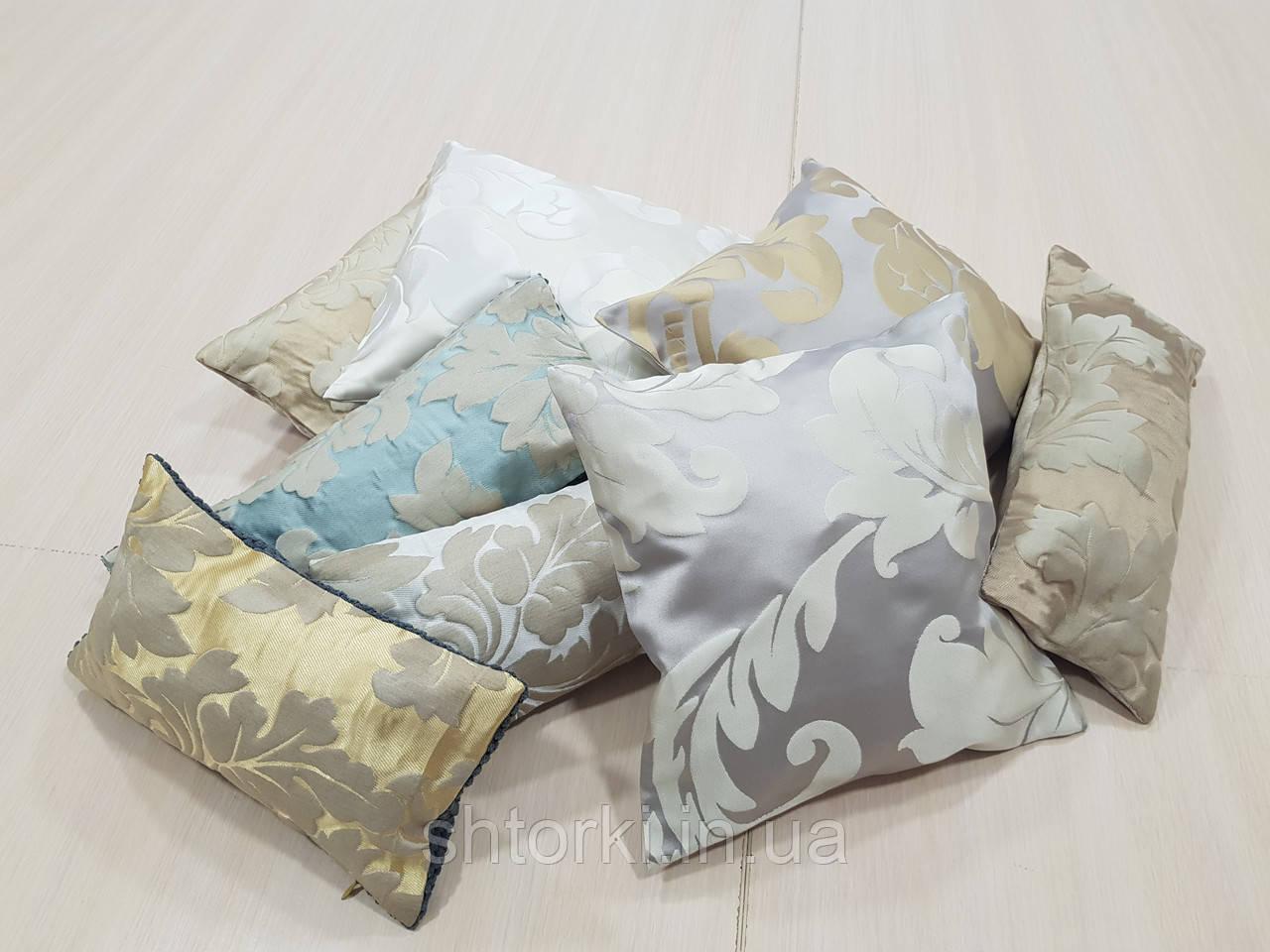 Комплект подушек Завитки разных цветов, 8шт