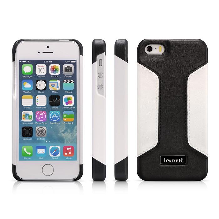 Чехол iCarer для iPhone 5/5S/5SE Colorblock Black/White (RIP518B)