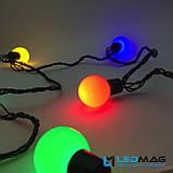 Светодиодная гирлянда Шарики 35мм Мультицвет 6м соединяемая, фото 5