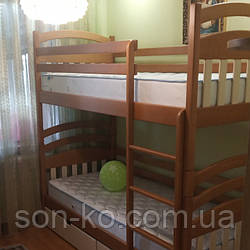 Двоярусне ліжко з масиву буку Лукаш