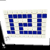 Фриз греческий Aquaviva Cristall W/B бело-синий для бассейна